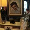 Graceland, Memphis.  Photos of Elvis and his parents, living room