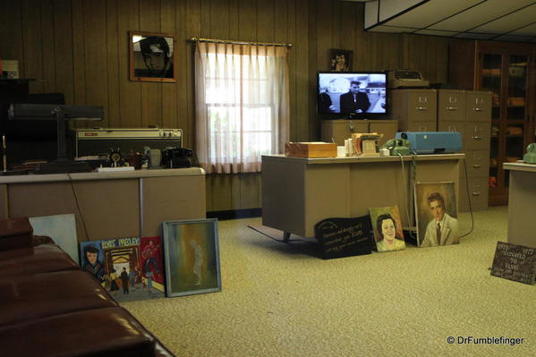 Graceland, Memphis. Vernon's office