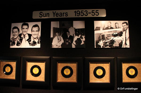 Graceland, Memphis. Trophy room. Sun records exhibit