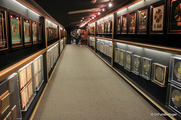 Graceland, Memphis. Trophy room. Hall of Gold -- an amazing site