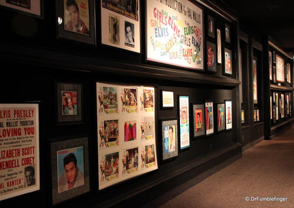 Graceland, Memphis. Trophy room. Movie memorabilia
