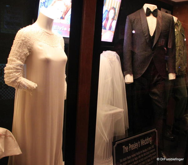 Graceland, Memphis. Trophy room. Elvis and Priscilla's wedding clothes