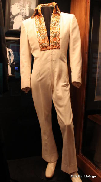 Graceland, Memphis. Trophy room. Elvis stage jumpsuit, early 70s