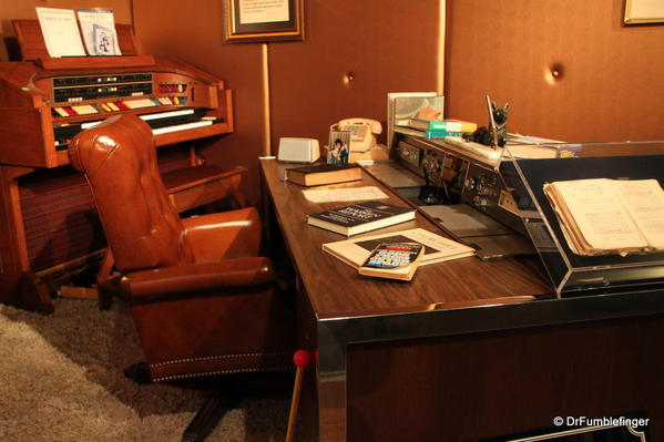 Graceland. Special Elvis exhibit. Elvis' desk
