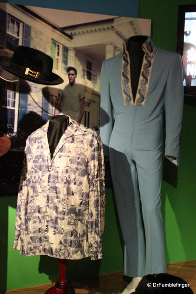 Graceland, Memphis. Special Elvis exhibit. Elvis' clothes