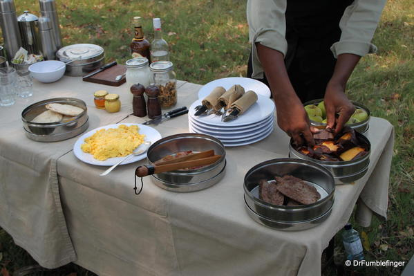 An amazing breakfast spread on the delta