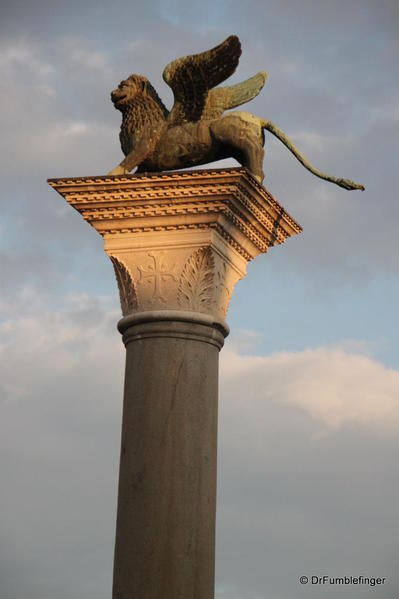 Winged Lion of Venice, entry to Piazza San Marco