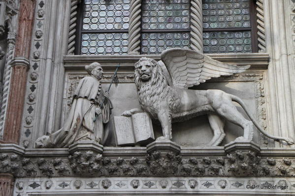 Winged Lion of Venice and the Doge