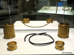 Dublin, National Museum of Ireland: Archaeology -- Gold bracelets