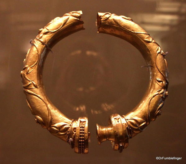 Dublin, National Museum of Ireland, Archaeology -- Gold from the Broighter Hoard, 100 BC