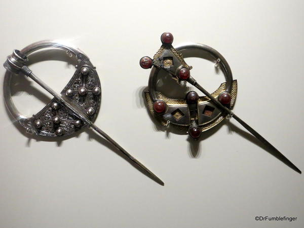 Dublin, National Museum of Ireland: Archaeology -- Silver Annular Brooches, 9th century