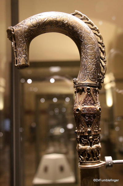 Dublin, National Museum of Ireland: Archaeology -- Crozier, 11th century