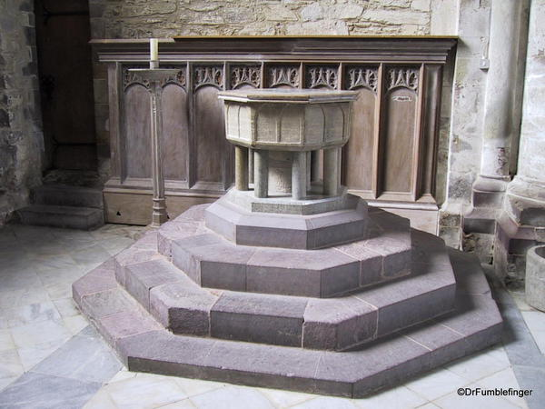 Font at St. David Cathedral, Wales