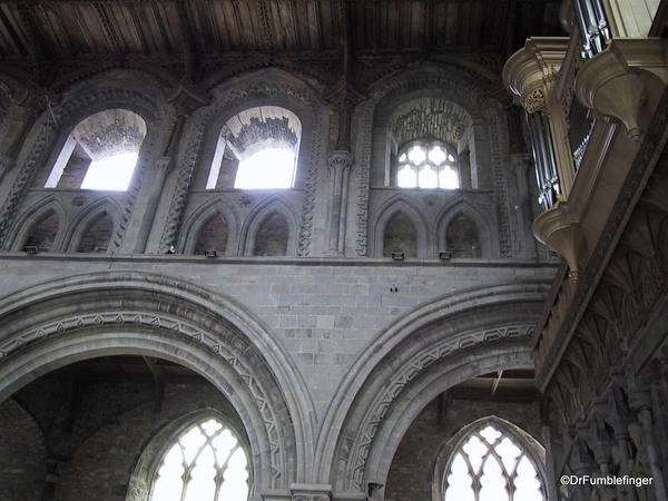 Details of arches and windows, St. David Cathedral, Wales