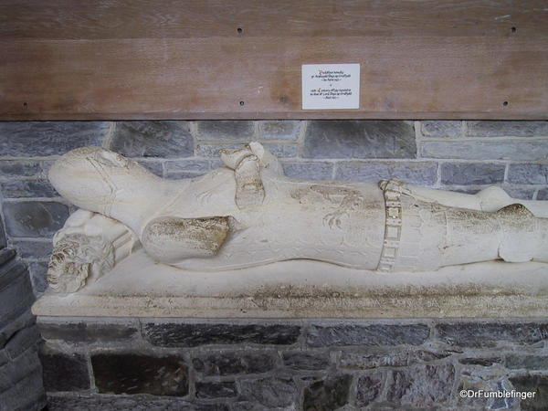 Ancient tomb in St. David Cathedral, Wales
