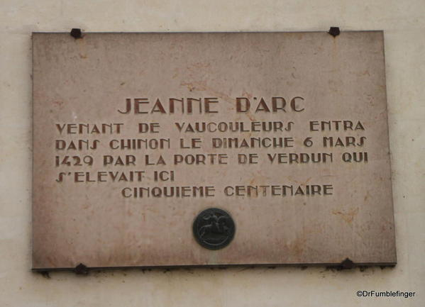 Joan of Arc plaque, Chinon