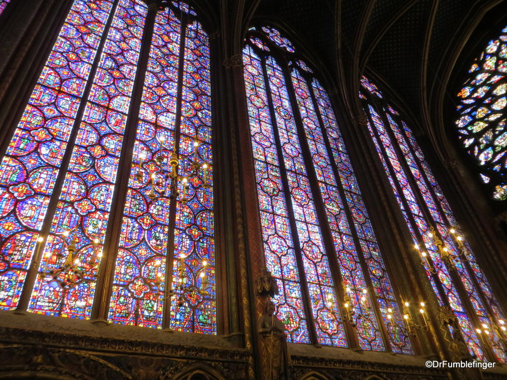 The Long Stained Glass Windows Of Sainte Chapelle