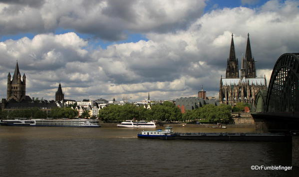 Cologne Cathedral on the River Rhine, dominating the landscape