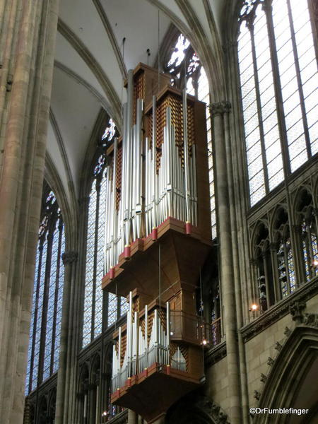 Organ pipes, Cologne Cathedral