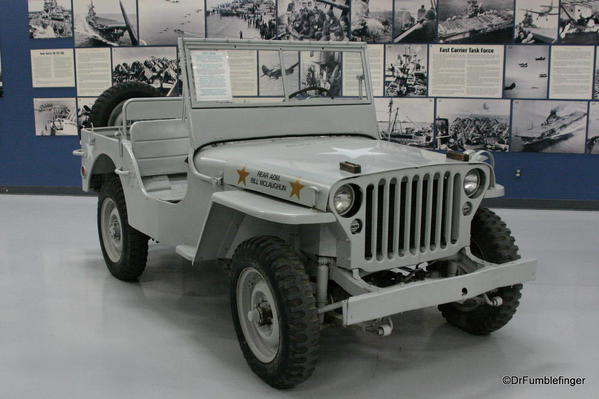 Palm Springs Air Museum. Jeep belonging to Read Admiral McLaughlin