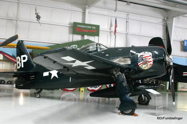 Palm Springs Air Museum. Grumman F8F Bearcat aircraft (Bob's Bear)