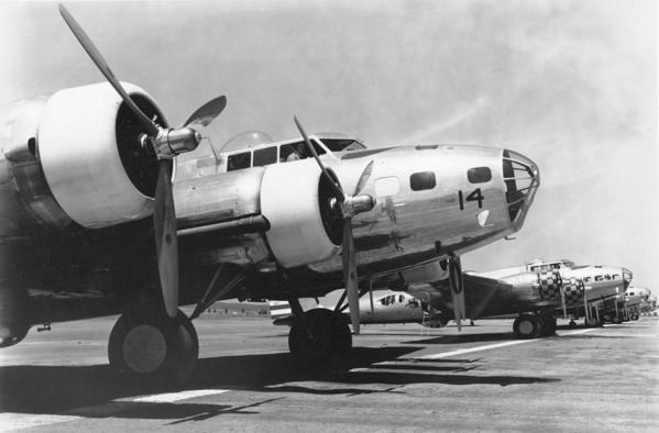 B-17 Bombers at March Field, California. Courtesy of the USAF