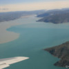 Flying in over the c.100 mile long Sondre Stromfjord, Greenland
