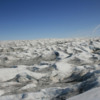 Dune-like ice formations, Greenland's glaciers