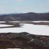 Spring hiking in Greenland.  Lakes are still frozen
