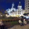 Valencia streets at night