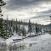 A winter scene near Yellowstone National Park