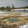 Firehole basin in the winter, Yellowstone National Park