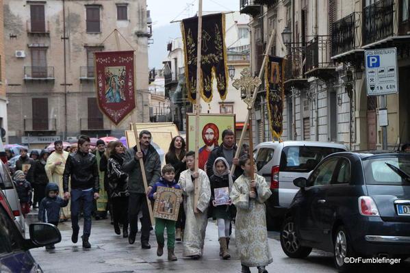 Religious procession, Palermo
