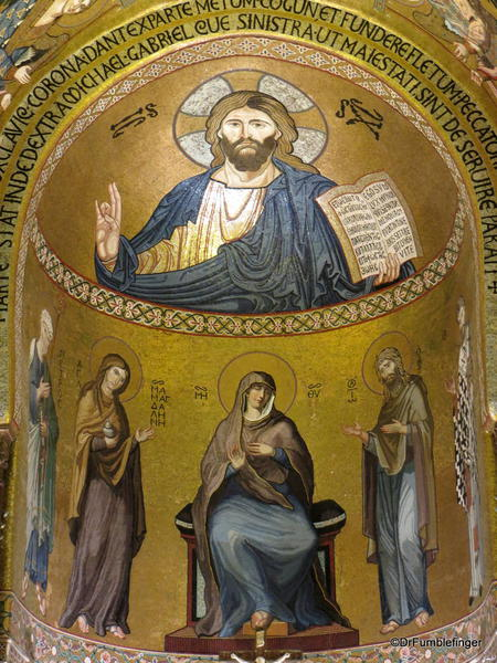 Cappella Palantina, Palermo, Sicily. Christ Pantocrator is the central focus
