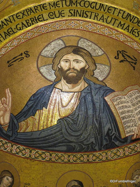 Cappella Palantina, Palermo, Sicily, Christ Pantocrator is the central focus