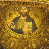 Cappella Palantina, Palermo, Sicily.  Christ Pantocrator is the central focus, surrounded by angels
