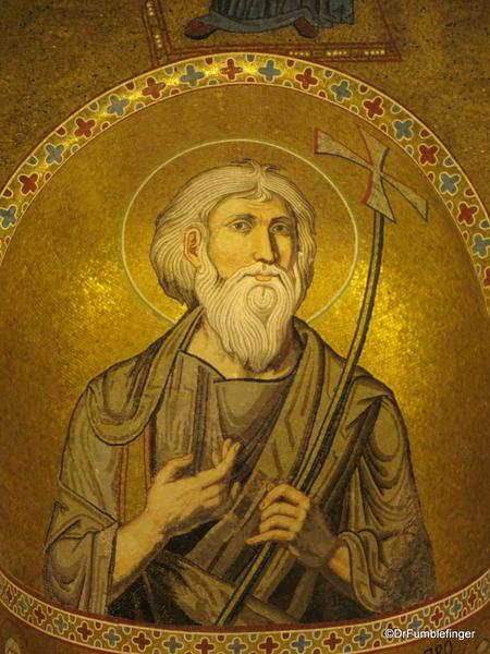Cappella Palantina, Palermo, Sicily. Apostle Peter