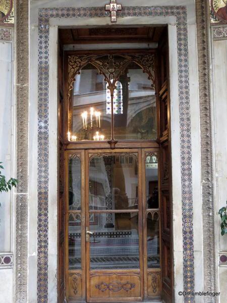 Cappella Palantina, Palermo, Sicily. Entry door