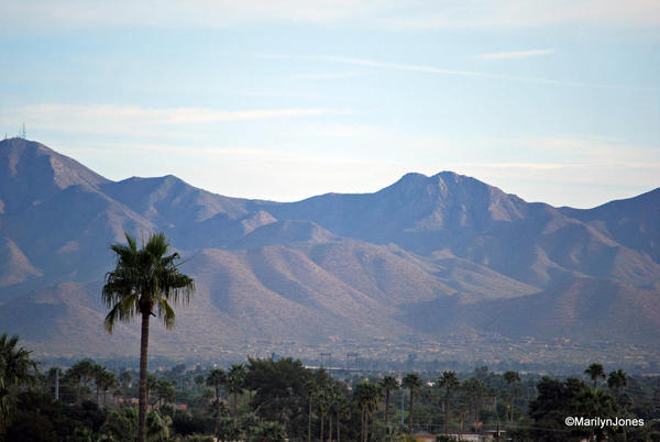 W Scottsdale: room with a view of the mountains surrounding the city.
