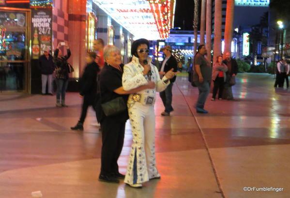 Downtown Vegas -- Elvis sighting