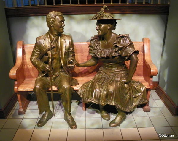Nashville, Ryman Auditorium. Roy Acuff and Minnie Pearl