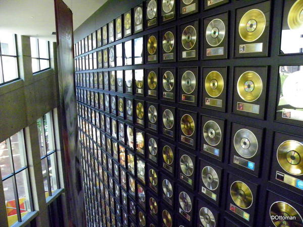 Nashville, Country Music Hall of Fame. Gold Records