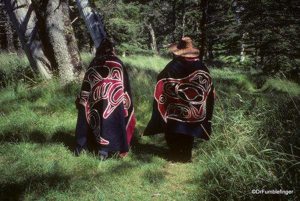Louise Island, Haida Gwaii, Skedans Village Totems and Guardians