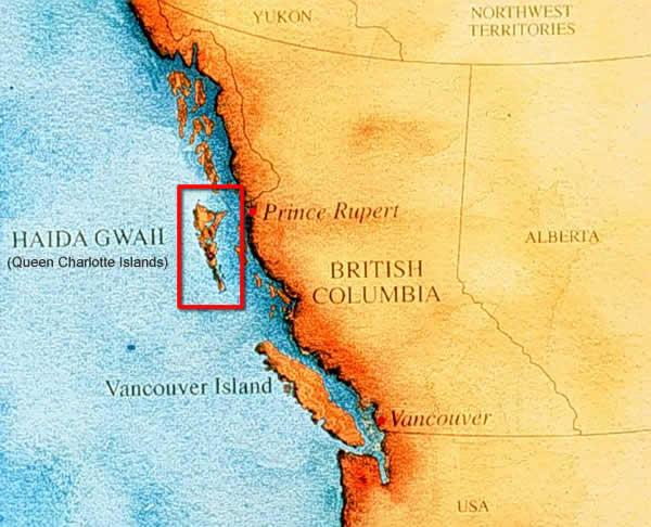 Haida Gwaii as it relates to the mainland