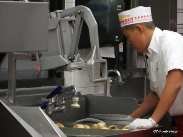 Readying the potatoes, In 'n Out Burger