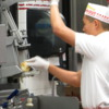 Cutting fresh French Fries, In 'n Out Burger