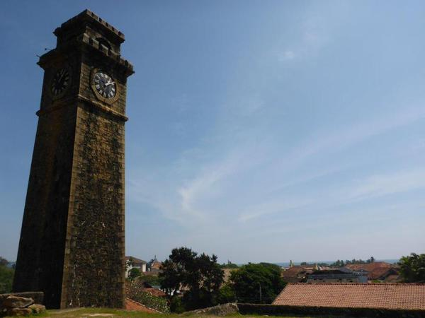 The clock tower in Galle Fort, Sri Lanka