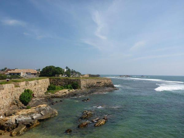 Galle Fort viewed from the seaside