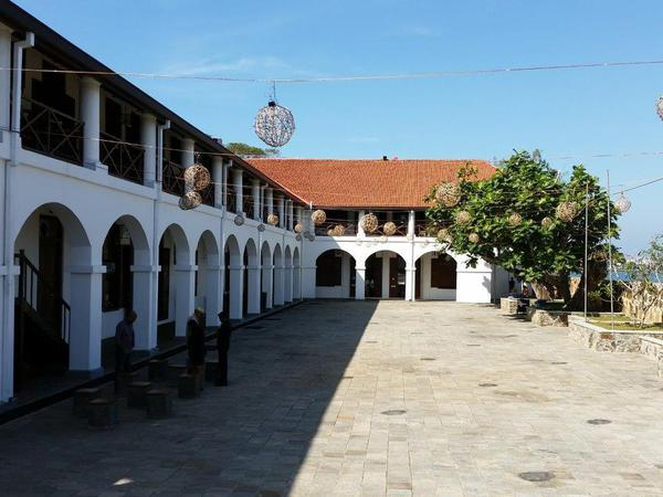 The shopping and restaurant complex, Dutch hospital in Galle