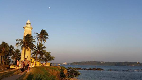 The Promenade from Galle Lighthouse at Sunset